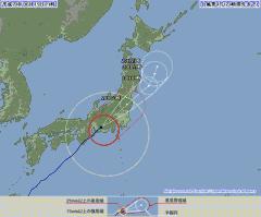 台風4号(2012年6月19日21時現在、気象庁)