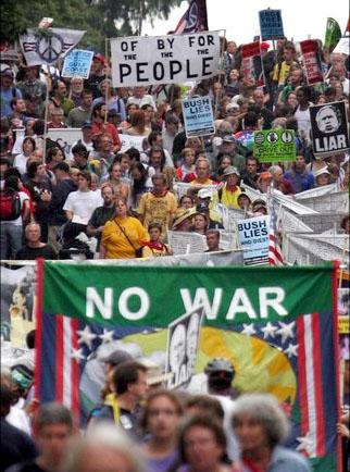 ワシントンのデモ行進