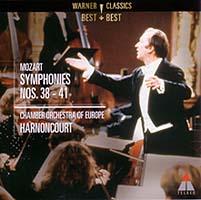 アーノンクール&ヨーロッパ室内管弦楽団:モーツァルト後期交響曲CDジャケット