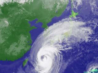 台風23号(10月19日午後5時現在)
